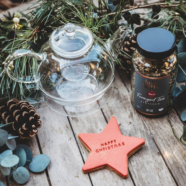 Tea for one & Christmas biscuit combo