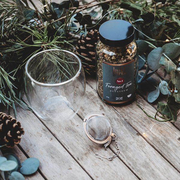 Tea with tea glass Christmas combo