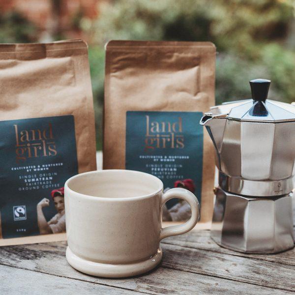 Luxury coffee, coffee pot and mug gift set